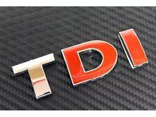 TDI badge Emblem red VW Golf Passat Bora Audi A3 A4 Seat Leon MK4 MK5 MK6 Car41r