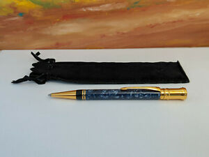 PARKER Duofold Blue Marble with Gold Trim Ballpoint Pen