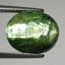 3.73 ct ATTRACTIVE  RARE HUGE _  NATURAL GREEN OPAL CAT'S EYE _ CABOCHON !