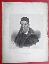 LITHOTOGRAPHIE: de CHABERT d'après MAURIN Portrait de J BASSAN Jacopo BASSANO