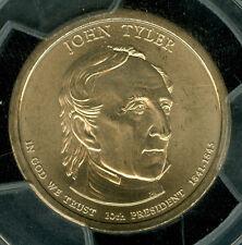 2009-D JOHN TYLER PRES. DOLLAR PCGS MS68 SATIN POS-A TOUGH DATE *