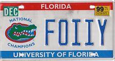 AUTHENTIC USA 1999 FLORIDA  ALIGATOR  LICENSE PLATE.