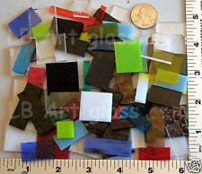 1 POUND MIX OF ASSORTED SIZES & COLOR PIECES BULLSEYE GLASS 90 COE