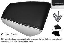 WHITE & BLACK CUSTOM FITS HONDA CBR 125 04-10 REAR PASSENGER LEATHER SEAT COVER