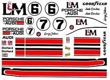 #6 Mark Donohue L&M Porsche 917 1/43rd Scale Slot Car Waterslide Decals