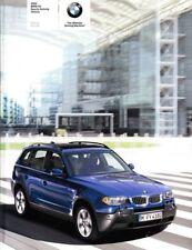 2005 05 BMW X3 Series  Original Sales Brochure Mint