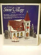 Department Dept 56 snow village Shady oak church & Sunday school serenade trees