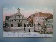 Ansichtskarte Rastatt Rathaus Alexisbrunnen 1902