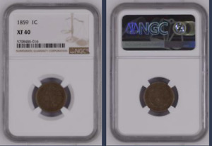1859 INDIAN HEAD CENT >NGC XF40< 1st Year of Issue >SUPER FAST SHIPPING!!!