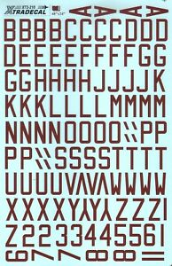 """X72210 - NEW Xtradecal 1:72 RAF WWII Dull red bomber code letters 48"""" x 24"""" x 6"""""""