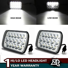 "2X 5x7"" 7x6"" Led Headlight Sealed Beam Bulb Crystal Headlamp 4500LM H6054 6000K"