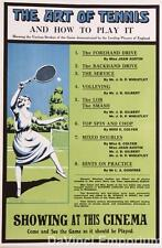 The Art of Tennis Poster Fine Art Lithograph S2 Art