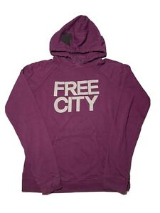 Free City Pullover hoodie sz M Medium Purple