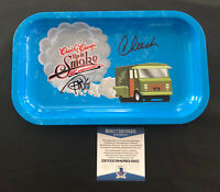 CHEECH AND CHONG SIGNED LARGE ROLLING TRAY AUTOGRAPH BECKETT BAS COA 9