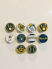 Milwaukee Brewers Magnets - Set Of 10 - FREE SHIPPING
