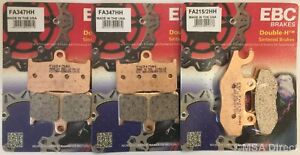 Triumph Tiger 1050 (2007 to 2012) EBC Sintered FRONT and REAR Disc Brake Pads