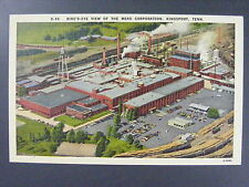 Kingsport TN View Mead Paper Corporation Factory Linen Postcard 1940s Vintage