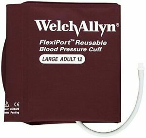 **NEW**Welch Allyn Blood Pressure Cuff Reusable 2-Tube LARGE ADULT REUSE-12-2SC