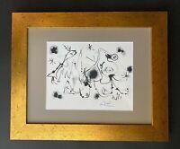 JOAN MIRO ORIGINAL 1971 BEAUTIFUL SIGNED PRINT MATTED 11 X 14 + BUY IT NOW!!