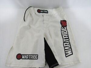 War Tribe JIU JITSU MMA ADULT MEN'S WHITE GRAPPLING SHORT SIZE M