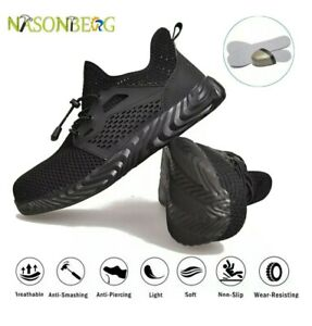 Safety Shoes Trainers Steel Toe Work Boots Sports Sneakers Hiking Shoes Euro 37