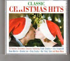 (HP338) Classic Christmas Hits, 75 tracks various artists - 2013 triple CD