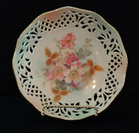 Vintage Reticulated Dish Bowl Floral Schumann Arzberg Germany