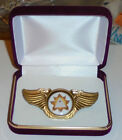 Masonic All Seeing Eye Pyramid Secret Society Occult Wing Badge Medal KT 33 Pin