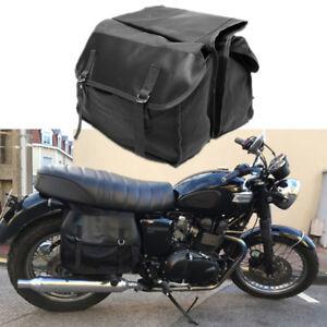 1x Motorcycle Saddle Bag Travel Luggage for Yamaha Honda Cafe Racer Pannier Bag
