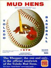 1978 Toledo Mud Hens Program Minnesota Twins AAA Affiliate w/ Roster Sheet
