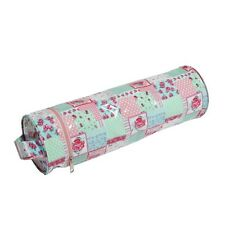 Floral Patchwork PVC Knitting Pin Needle Case Storage Bag Wool Yarn Holder