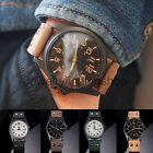 Fashion Men's Leather Band Watches Military Sport Analog Quartz Date Wrist Watch
