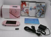 Used Sony PSP-3000 Console BLOSSOM PINK w/ Box Charger & 3pcs Japan import