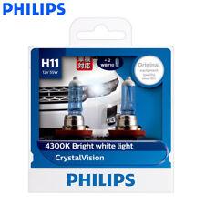 2X Philips H11 12362CV Crystal Vision Car Lamps 4300K White Light, US Warehouse