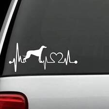 K1060 Greyhound Heartbeat© Dog Decal Sticker Auto Window Art