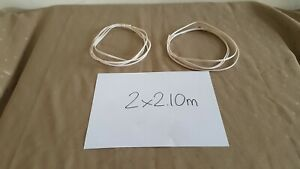 WHITE made in UK 2x 2.10m QED MICRO high TECHNOLOGY speaker CABLE