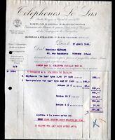 """PARIS (XV°) Constructeur de TELEPHONES & MATERIEL TELEPHONIQUE """"LE LAS"""" en 1928"""