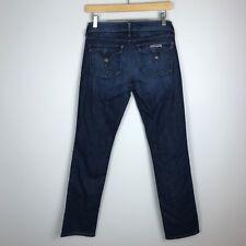 Hudson Jeans Straight Leg Flap Pockets Dark Wash Denim Women's 27 x 29