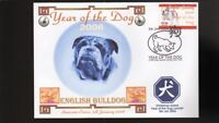 YEAR OF THE DOG STAMP ILLUSTRATED SOUVENIR COVER, ENGLISH BULLDOG 4