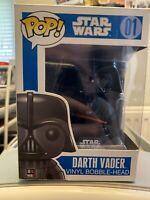 Star Wars Darth Vader 01 Funko Pop Blue Box First Edition Big Vinyl Bobble Head