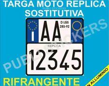 """TARGA MOTO REPLICA SOSTITUTIVA IN ALLUMINIO """"ART.102  D. LGS. 285/92"""""""