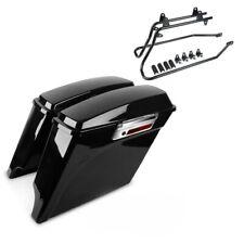 Seitenkoffer + Kofferträger für Harley Heritage Softail Classic 88-17 Stretched