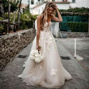 Rustic Lace Wedding Dresses Sweetheart Backless Appliques Country Bridal Gowns