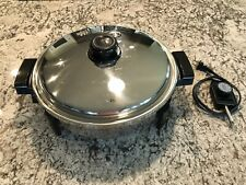 Saladmaster K7256 Oil Core Electric Skillet w/ Lid & Power Cord