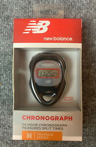 New Balance 24 Hour Chronograph Stop Watch Stopwatch Training Series New Sealed