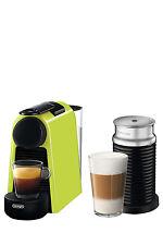 NEW by Delonghi Essenza Mini & Milk capsule coffee machine: EN85LAE Lime