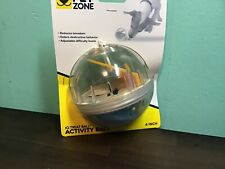 Pet Zone IQ Treat Ball 4-inch Dog Toy Clear