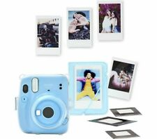 INSTAX mini 11 Instant Camera Mini Film Shots Case Bundle Sky Blue - Currys
