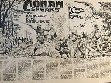 Conan Speaks Jim Steranko Signed Magazine Art From MediaScene Nov-Dec 1979 Comic Art