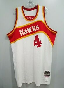 Mitchell & Ness 1986-87 Atlanta Hawks Spud Webb 4 Throwback Jersey Mens 52 2XL